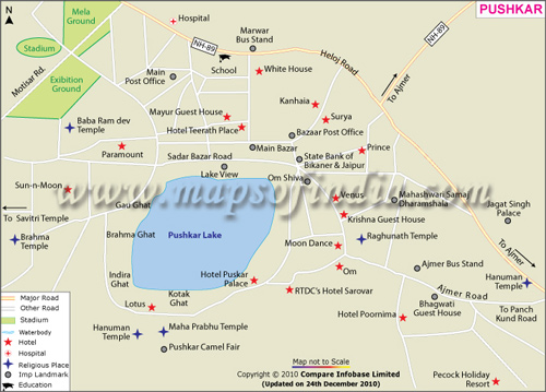 Map of Pushkar