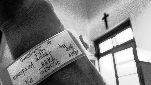 Tag melingkar sebagai tanda pasien rawat inap