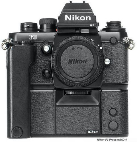 Nikon F3 dengan Battery Grip... sangar man !!!