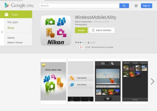 tampilan di Google play store