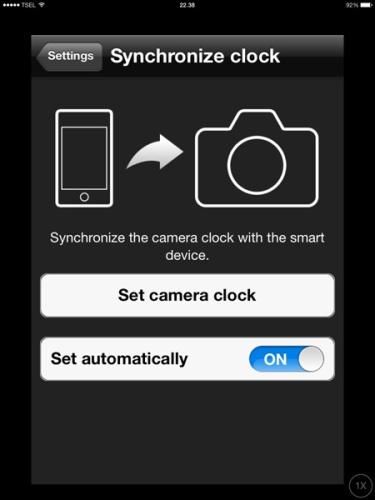 Pilihan synchronize clock