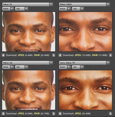 ISO 100 pada skin tone warna gelap