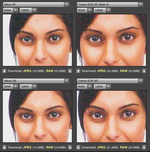 ISO 12.800 : Nikon DF vs Canon 5DM3 dan Canon 6D