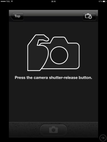 Pada metode camera maka gadget tidak menampilkan live view