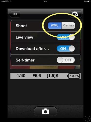 Pilihan antara WMU dan Camera Operating
