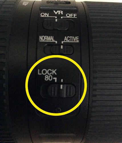Tombol Lock zoom sebagai pengunci saat dibawa.