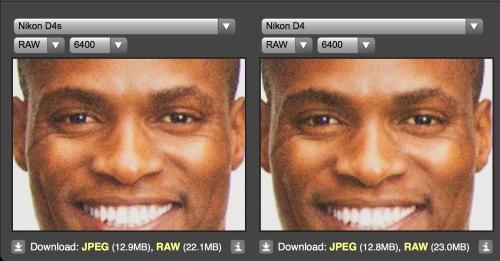 Nikon D4s vs Nikon D4