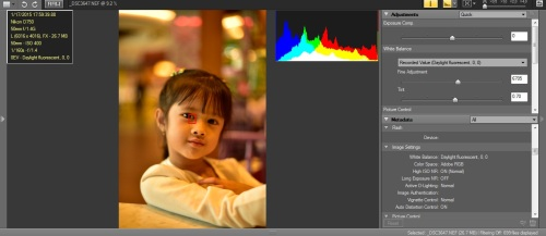 WB Daylight Fluo : Hasil warna cenderung warm