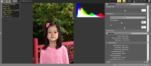 WB Flash dengan Flash Lighting : Hasil warna skin tone akurat