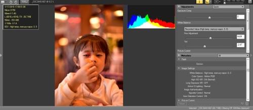 WB High temp mercury vapor : Hasil terasa magenta