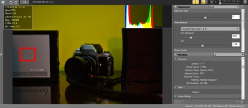 focus point digeser ke object silver HD, exposure tetap