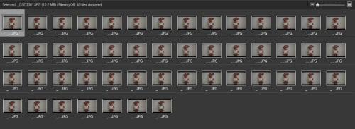burst hingga 49 frames mulai drop/menurun speednya.