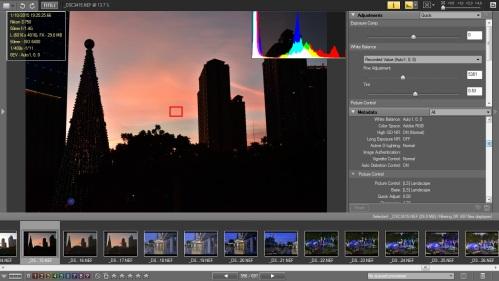 Picture Style Landscape dan D-Lighting Normal