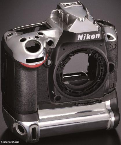 Body Nikon D610 masih menggunakan polycarbonate